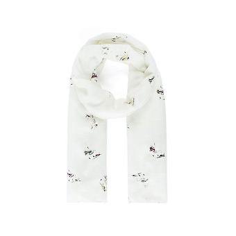 Fable Womens/Ladies Lady Face Metallic Print Scarf