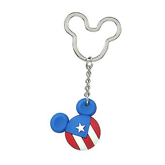 Key Chain - Disney - Mickey Flag Icon Ball Key Ring - Puerto Rico New 85717