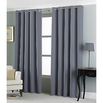 Country Club Eden Jacquard Curtains 66 x 72, Charcoal