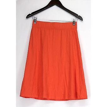 Liz Claiborne York Skirt XXS Essentials A-Line Orange A240834