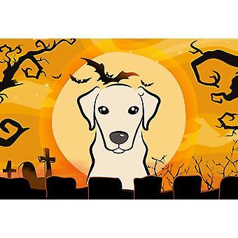 Carolines Treasures  BB1780PLMT Halloween Yellow Labrador Fabric Placemat