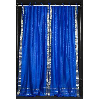 Isola di cravatta blu Top Sari pura tenda / drappo / pannello - coppia