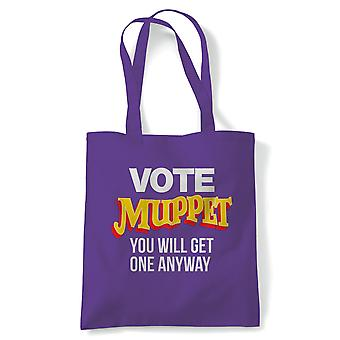Vote Muppet, Political Joke Tote - Brexit Britisches Parlament Protest