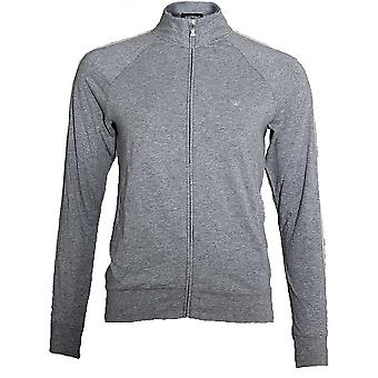 Emporio Armani Women Visibility Sparkle Logo Full Zip Jacket, Grey, X-Large
