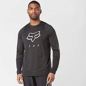 New Fox Men's Defend Foxhead Long Sleeve Jersey Black