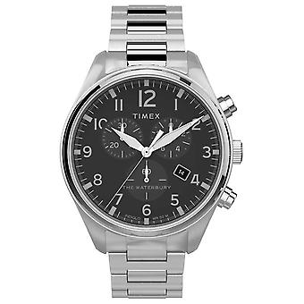Timex | Waterbury traditionele Chrono 42mm | Roestvrijstaal TW2T70300 horloge
