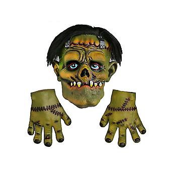 Scream Machine Frankenstein Latex Halloween Mask With Hands
