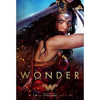 Wonder Woman Original Movie Poster Wonder Sword Style B