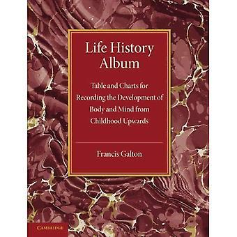 Album historia życia: Tabeli i wykresów do nagrywania rozwoju ciała i umysłu od dzieciństwa do góry, z...