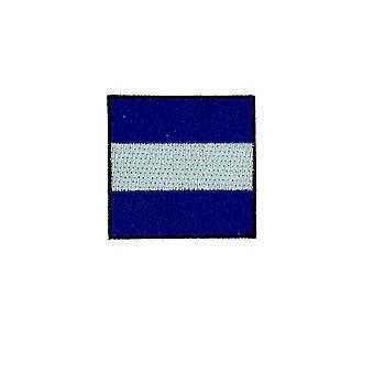 Patch Ecusson Brode Applique Drapeau Code Signaux Maritime Backpack J Juliet