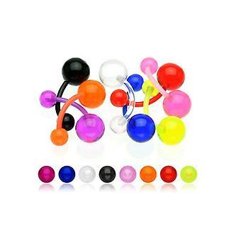 Lot 8/16/24/48 Piercing Nabel Flexible Mode Farbe Nabel Männer