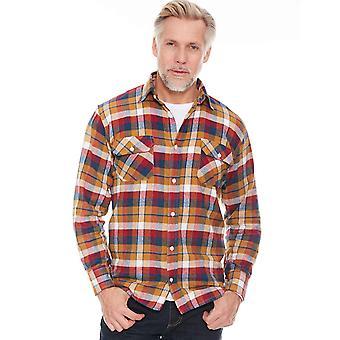 Pegasus Mens Brushed Check Long Sleeve Shirt
