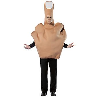 The Finger Middle Finger Offensive Comical Stag Night Halloween Mens Costume OS