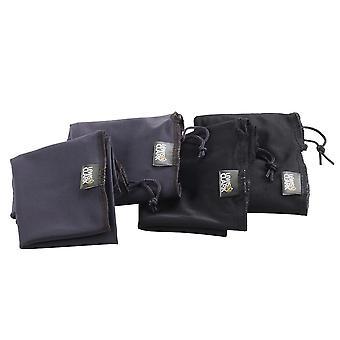 Lewis N. Clark Schuhbezüge (2 Paare), für Travel, Black & Charcoal #169