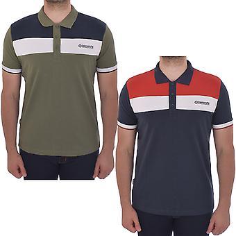 Lambretta Mens Cut & Sew Pique Casual Short Sleeve Cotton Polo Shirt Tee Top