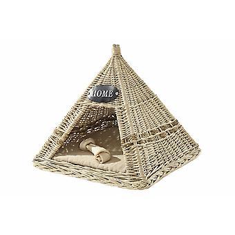 Heine casa gatto e cane Basket gatto Cave Dog Cave da Willow Braid con cuscino circa 45x45 cm