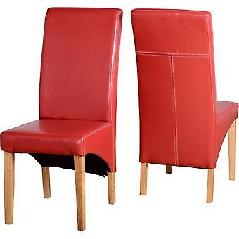 Paar G1 Stühle - Red Pu