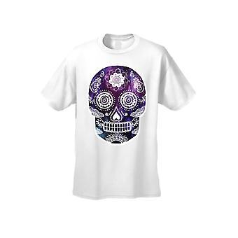Mænd ' s lilla Galaxy Sugar Skull kortærmet T-shirt