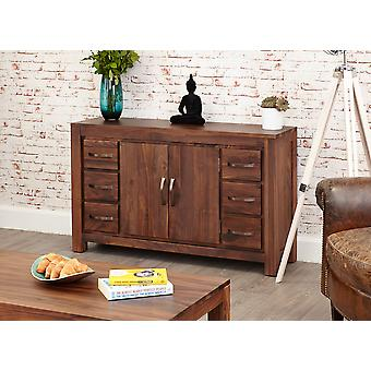 Mayan Walnut Six Drawer Sideboard Brown - Baumhaus