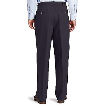 Dockers Men-apos;s Comfort Khaki Stretch Relaxed-Fit Flat-Front, Bleu, Taille 42W x 32L
