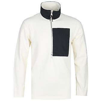 Albam Sport fleece valkoinen puoli-zip pusero