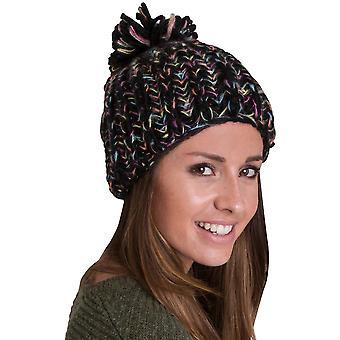 Regard extérieur Womens/Mesdames Elgin pompon Chunky Beanie chapeau