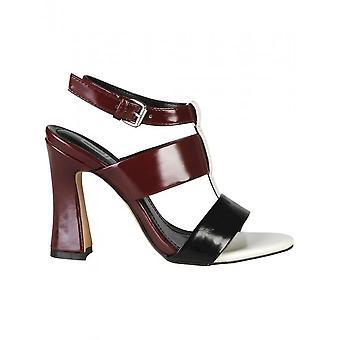 Ana Lublin - Shoes - Sandal - SORAIA_BORDO-NERO - Women - darkred,white - 40