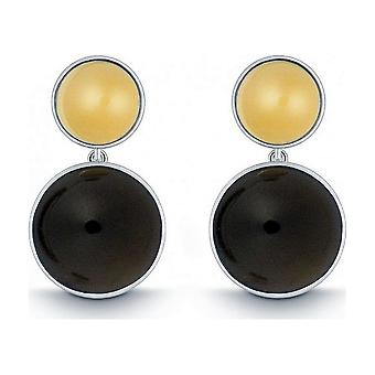 QUINN - Earrings (Pair) - Silver - Gemstone - Smoky Quartz - 35058932