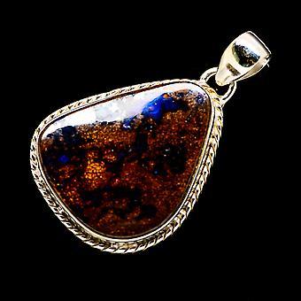 Boulder Opal 925 Sterling Silver Pendant 1 5/8