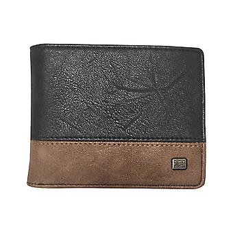 Billabong Dimension Faux Leather Wallet in Navy