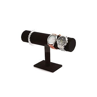 1 Tier Jewelry Bracelet Necklacewatch Display/stand Holder T-bar - Black