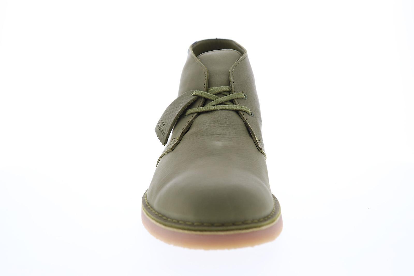 Clarks Desert Boot Gtx Menns Grønt Skinn Lace Up Støvler