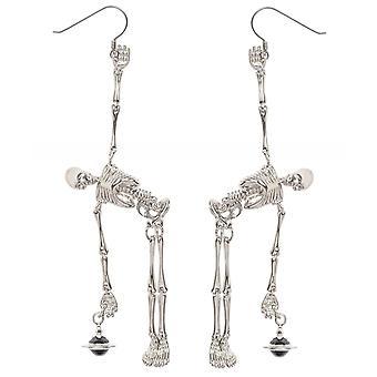 Boucles d'oreilles squelette d'accessoires Vivienne Westwood