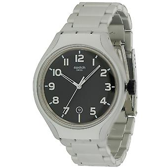 Staal STRIPE terug aluminium Mens Watch YES4011AG