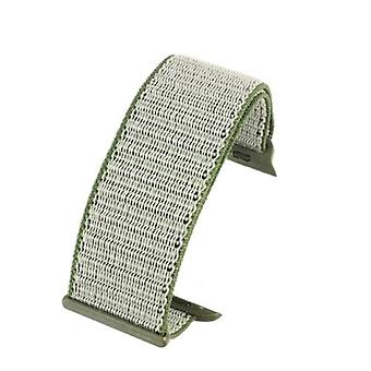 Watch strap made by w&cp to fit apple iwatch watch strap grey hook and loop wrap around fabric 38mm and 42mm
