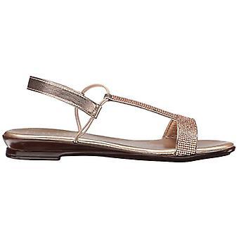 ITALIAN Shoemakers Womens 5696S7 Canvas Peep Toe Casual T-Strap Sandals