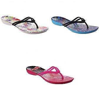 Crocs Womens/Ladies Isabella Graphic Flip Flops