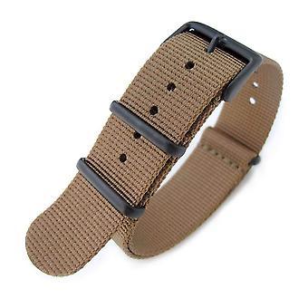 Strapcode n.a.t.o watch strap 20mm g10 military watch band nylon strap, brown, pvd black, 260mm