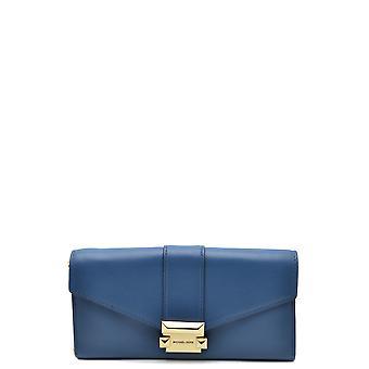 Michael Kors Ezbc063149 Women's Blue Leather Wallet