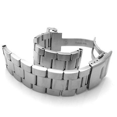 Strapcode watch bracelet 19mm, 20mm, 21mm solid 316l stainless steel super oyster straight end watch band