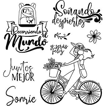 Stamperia Cling Stamps-Bicycle By Johanna Rivero
