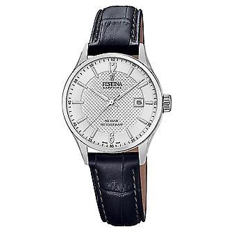 Festina Swiss F20009-1 Swiss Made Women's Silver Tone Dial Wristwatch