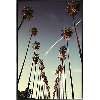 JUNIQE Print - On Sunset - Los Angeles Poster in Blue & Turquoise