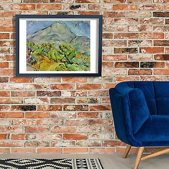 Paul Cezanne - Landscape of Mountain Poster Print Giclee