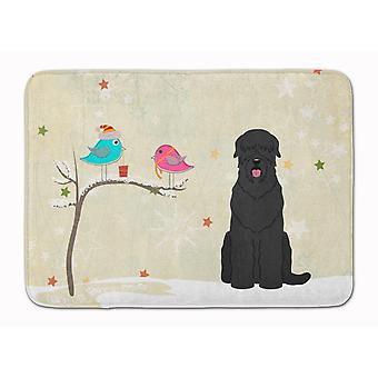 Christmas Presents between Friends Black Russian Terrier Machine Washable Memory