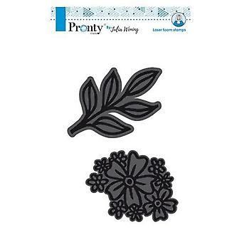 Pronty Foam stamps 68x103mm Flower+Twig 494.904.001 Julia Woning