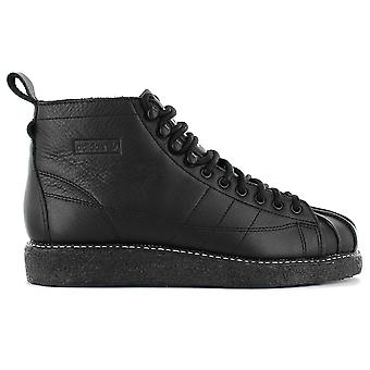 adidas Originals Superstar Boot Luxe W - Women's Shoes Leather Black AQ1250 Sneakers Sports Shoes