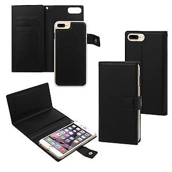 Case para iPhone 8 / 7 / 6s / 6 Porta-cartão preto e concha ímã