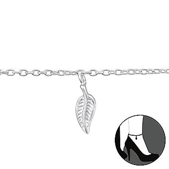 Лист - 925 стерлингового серебра ножные браслеты - W37317x