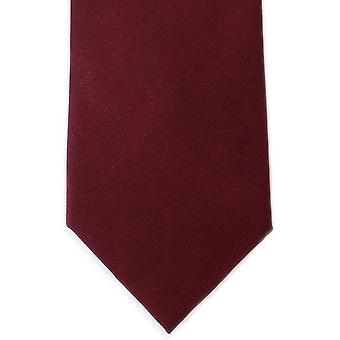 Michelsons voor Londen Plain Twill zijden stropdas - wijn